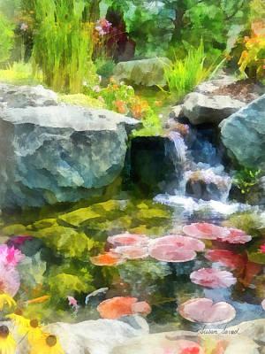 Koi Pond Poster by Susan Savad