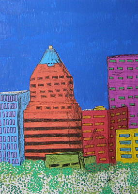 Koin Downtown Poster by Marcia Weller-Wenbert