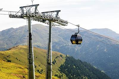 Konigsleiten Mountain Cable Car Poster by Photostock-israel