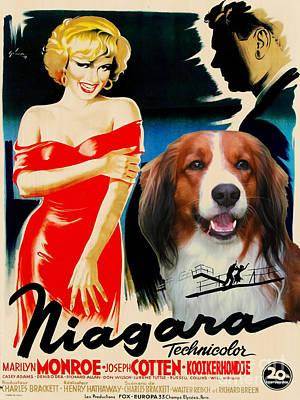 Kooikerhondje Art Canvas Print - Niagara Movie Poster Poster by Sandra Sij