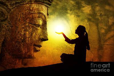 Krishna Devotion Poster by Tim Gainey