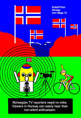 Kristoff From Norway Won Stage 12 Poster by Asbjorn Lonvig