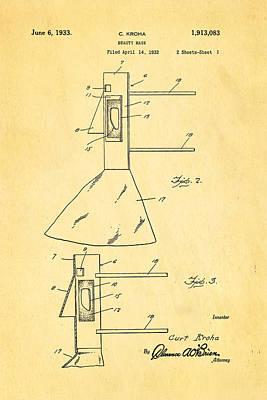 Kroha Beauty Mask Patent Art 1933 Poster by Ian Monk