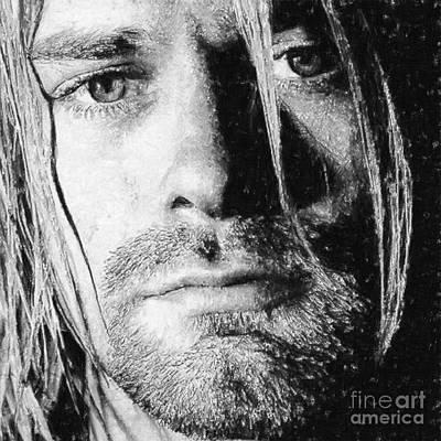 Kurt Cobain Poster by Antony McAulay