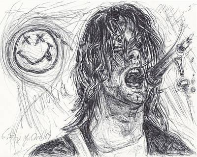 Kurt Cobain Poster by Michael Morgan