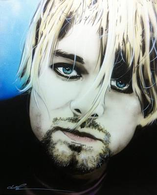 Kurt Cobain - ' Kurt V ' Poster by Christian Chapman Art