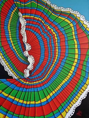 La Falda Girando - The Spinning Skirt Poster by Katherine Young-Beck