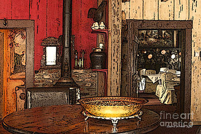 La Ferme Restaurant In Genoa Nevada Poster by Artist and Photographer Laura Wrede