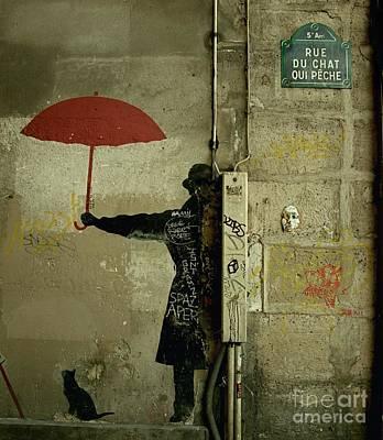 La Rue Du Chat Qui Peche Poster by Louise Fahy