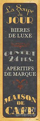 La Soupe Du Jour Poster by Debbie DeWitt