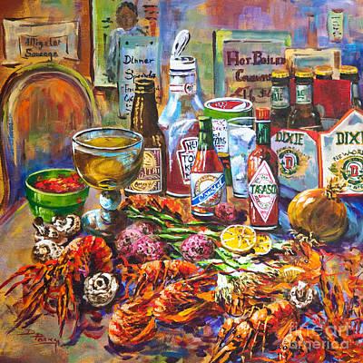 La Table De Fruits De Mer Poster by Dianne Parks