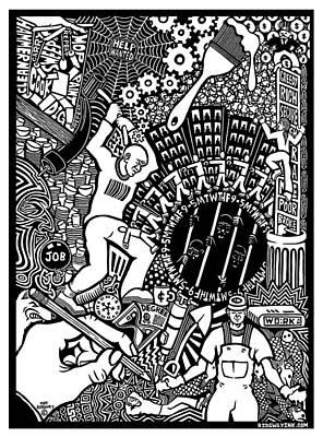 Labor Daze Poster by Matthew Ridgway