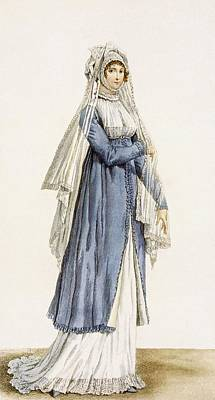 Ladies Day Dress, Plate Poster by Antoine Charles Horace Vernet