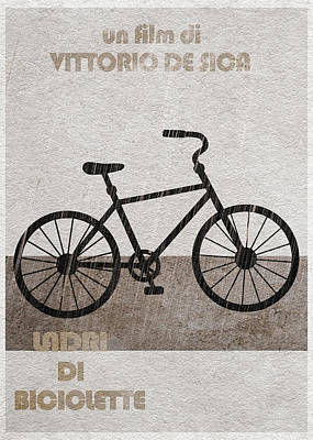 Ladri Di Biciclette Poster by Ayse Deniz