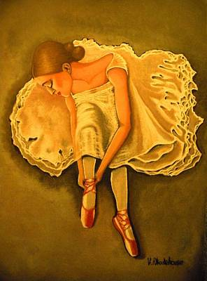Lady Ballerina Poster by Victoria Rhodehouse