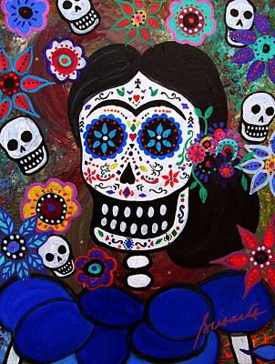 Lady Frida In Blue Poster by Pristine Cartera Turkus
