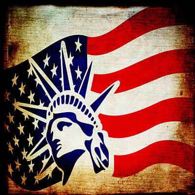 Lady Liberty Keeps Watch Poster by Angelina Vick