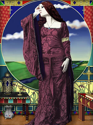 Lady Of Shallot Poster by Andrew Harrison