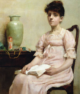Lady Reading Poster by Fanny Caille