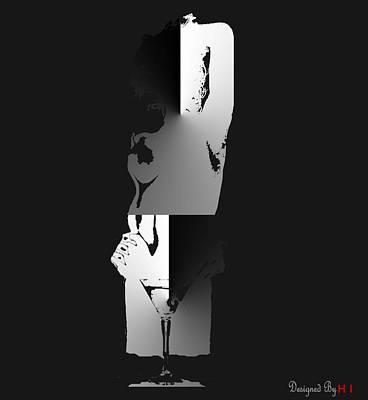 Lady Thy Night Poster by HI Designs Amor Blu Group LLC