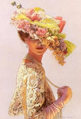 Lady Victoria Victorian Elegance Poster by Sue Halstenberg