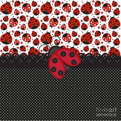 Ladybug Mood  Poster by Debra  Miller