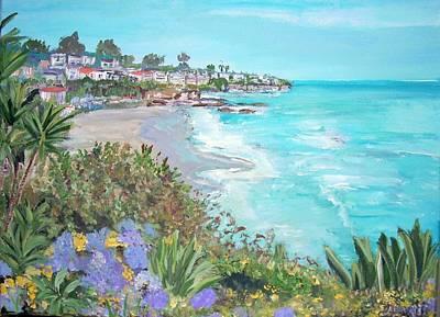 Laguna Beach Poster by Teresa Dominici