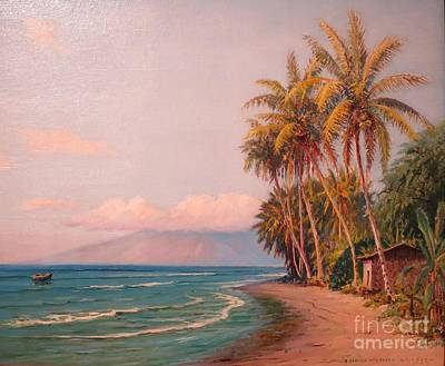 Lahaina Beach - West Maui Poster by Pg Reproductions