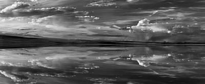 Lake Abert 11 Black And White Poster by Leland D Howard
