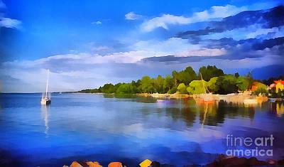 Lake Balaton Hungary  Poster by Odon Czintos