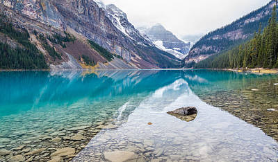 Lake Louise In Banff National Park Alberta Poster by Pierre Leclerc Photography