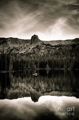 Lake Mamie Black And White Poster by Kelly Wade