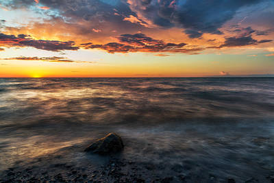 Lake Ontario Sunset 2 Poster by Mark Papke