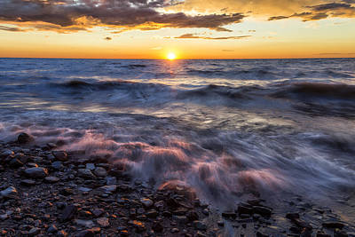 Lake Ontario Sunset 3 Poster by Mark Papke