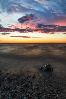 Lake Ontario Sunset Poster by Mark Papke