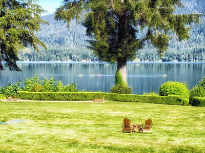 Lake Quinault In Washington Poster by Mountain Dreams