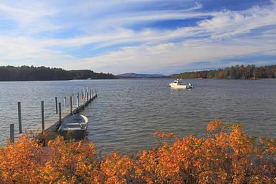 Lake Winnipesaukee Autumn Afternoon Poster by John Burk