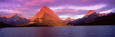 Lake With Mountains At Dusk Poster by Panoramic Images