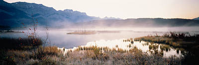 Lake With Mountains In The Background Poster by Panoramic Images