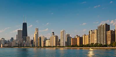 Lakeshore Chicago Skyline Poster by Steve Gadomski