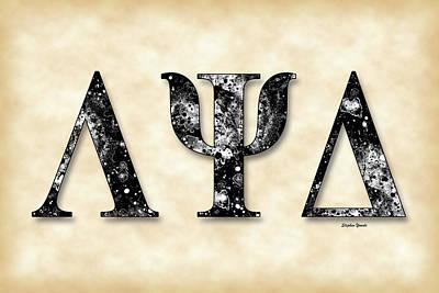 Lambda Psi Delta - Parchment Poster by Stephen Younts