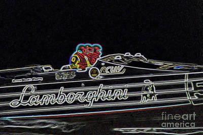Lamborghini Power Boat Poster by Brian Roscorla