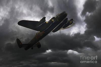 Lancaster - Dark Skies Poster by J Biggadike
