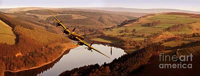 Lancaster Over Derwent Poster by Nigel Hatton