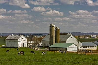 Lancaster Pennsylvania Farms Poster by Susan Candelario
