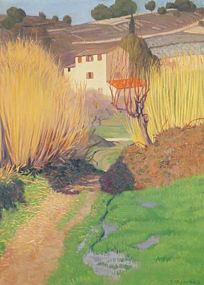 Landscape At Lagnes Poster by Felix Edouard Vallotton