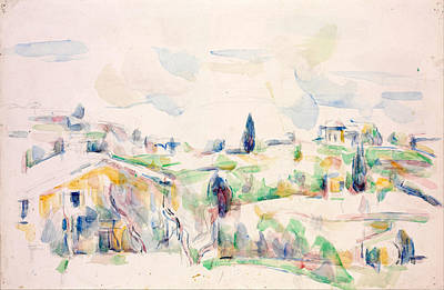 Landscape In Provence Poster by Paul Cezanne