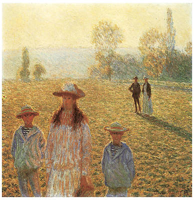 Landscape With Figures Giverny Poster by Claude Monet