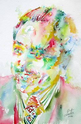 Langston Hughes Poster by Fabrizio Cassetta