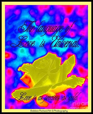 Language Of Love Poster by Bobbee Rickard